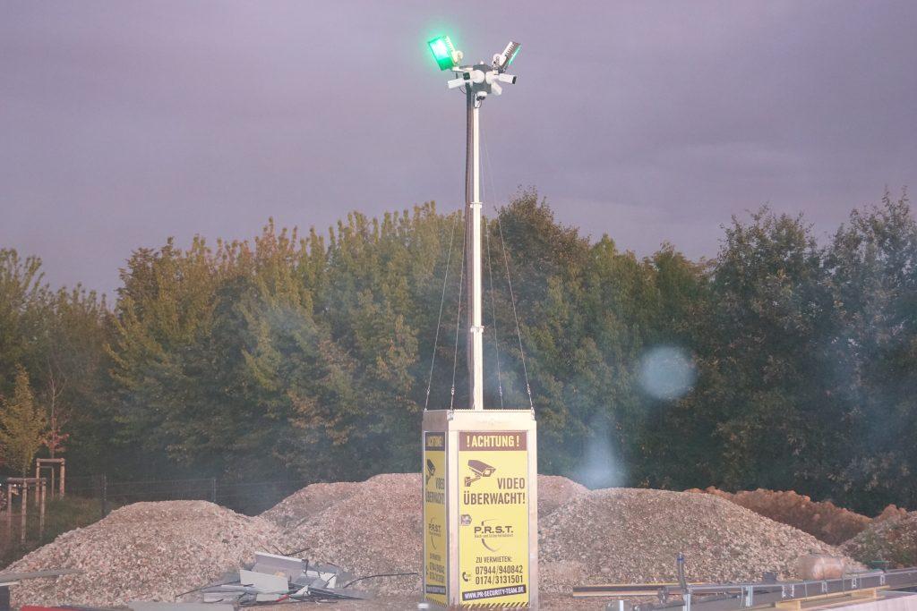Baustellen-Überwachung und Baustellenbewachung mit mobilem Kamerasystem von P.R. Security-Team
